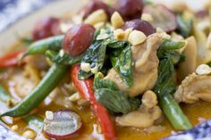 Penang Chicken Curry with Beans and Red Grapes