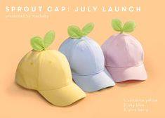 May 2020 - Sprout Seedling Baseball Cap Plant Lover Succulent Accessory Cotton Hat Kawaii Fashion, Cute Fashion, Fashion Outfits, Lolita Fashion, Fashion Styles, Diy Vetement, Cotton Hat, Cute Hats, Kawaii Clothes