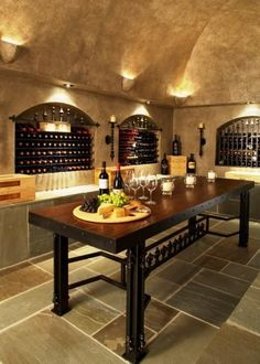 Dream Wine Cellar Eclectic Wine Cellar Design Pictures Remodel Decor and Ideas - page 3 & wine cellar - only with warm tones and brick 2 chairs small table ...