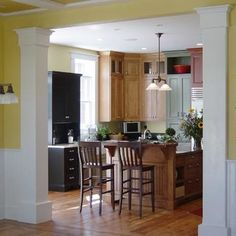 Columns.... Great Idea For The Door That Leads From The Dining Room