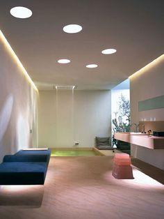 모던 건축 - Google 검색 Spa Interior, Interior Lighting, Bathroom Interior Design, Ceiling Lighting, Ceiling Lamp, Contemporary Bathrooms, Modern Bathroom, Contemporary Sofa, Design Design