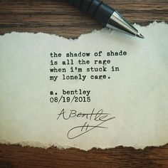 """Shadow of Shade."" A poem for the lonely hearted. #abentley #poetry #poem #poems #typewriter #instapoem #lonely #depression #depressed #cage #shadows #writers #writer #writings #poet #poets"