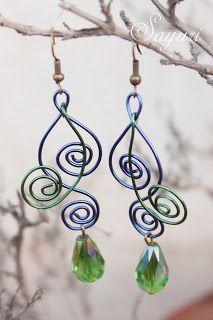 Alambre - part 3 Wire earrings