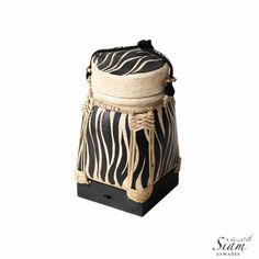Shop for on Etsy, the place to express your creativity through the buying and selling of handmade and vintage goods. Thai Rice, Asian Rice, Woven Baskets, Basket Weaving, Rice Box, Rattan Basket, Storage Baskets, Bucket Bag, Hand Painted