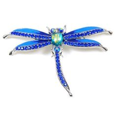 Brooches Store Blue Enamel & Sapphire Crystal Dragonfly Brooch by BROOCHES STORE, http://www.amazon.co.uk/dp/B006BFXPKU/ref=cm_sw_r_pi_dp_eX2Vqb14WBQ6T