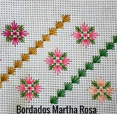 brazilian embroidery how to do Crewel Embroidery Kits, Hand Embroidery Videos, Hardanger Embroidery, Hand Embroidery Patterns, Cross Stitch Embroidery, Embroidery Needles, Ribbon Embroidery, Bargello Needlepoint, Broderie Bargello