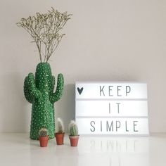 Light box | cactus | serax | kitchen | vase | quote | flower