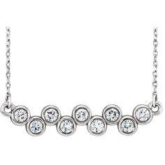 1/2 CT. T.W. Round Diamond Wavy Line Necklace in Platinum