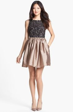 gorgeous holiday dress  Adrianna Papell Embellished Bodice Fit & Flare Dress | Nordstrom