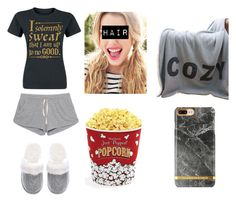"""""""Movie Night #2"""" by kaylamoraled ❤ liked on Polyvore featuring American Vintage, Victoria's Secret, Thro and West Bend"""