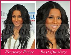 """Free Shipping Cheap Price 10""""-24"""" Inch High Density Unprocessed Brazilian Human Hair Lace Front Wigs For Black Women $121.00 - 219.00"""