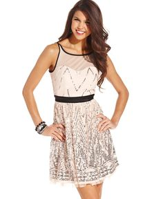 Ruby Rox Juniors' Sequin A-line Dress
