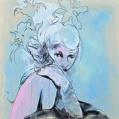 The Art of Lani Imre - Contemporary Female Figurative Art Figurative Art, Urban Art, Female Characters, Contemporary Art, Kitty, Sweet, Illustration, Artist, Anime