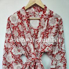 Cotton Kimono, Floral Kimono, Cotton Bag, Cotton Fabric, Beach Kimono, Long Kimono, Night Suit, Night Wear, Kimono Jacket
