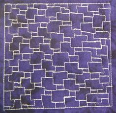 geometric free motion quilting