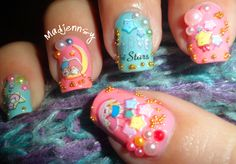 Little Twin Stars Japanese Style Nails