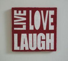 #makehandbuy - pannello decorativo in cartapesta da cm. 30x30 - LIVE LOVE LAUGH - Fukumaneki.it - Cartapesta, pannelli, oggetti, complementi, arredo, bomboniere, animali, simboli, design, arredamento - made in italy www.facebook.com/...