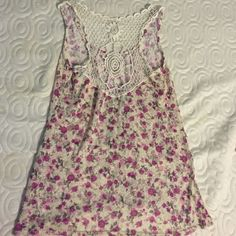 Urban Outfitters Floral Crochet Tank Never worn. No tags. Hippie boho fashion top. Loose small. ✔️♏️rcari Urban Outfitters Tops Tank Tops
