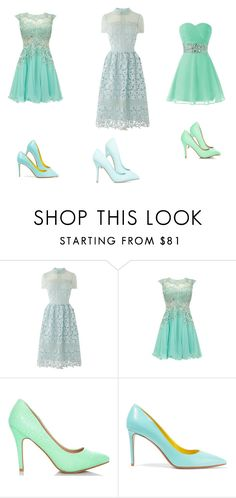 """"""":)"""" by fashionkitty922 ❤ liked on Polyvore featuring ShoeDazzle, Nicholas Kirkwood and Blue"""