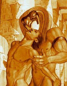 The Seduction of Horus by Seth - Egyptian Mythology