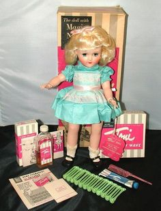 BEAUTIFUL P-90 IDEAL TONI DOLL MINT IN BOX WITH LINER HANGTAG ORIG ACCESORIES- Ebay $299.00