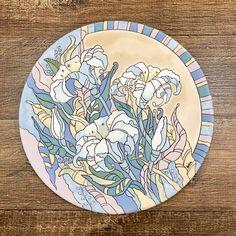 Ceramic Painting, Paint Designs, Decoupage, Clay, Plates, Tableware, Modern, Pintura, Clock