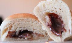 Nutella- og marsípanhorn