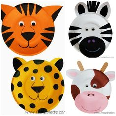 Informations About totnens-manualitats-animals-plats-plas Animal Crafts For Kids, Fun Crafts For Kids, Toddler Crafts, Art For Kids, Animals For Kids, Preschool Jungle, Preschool Crafts, Jungle Crafts, Zoo Crafts