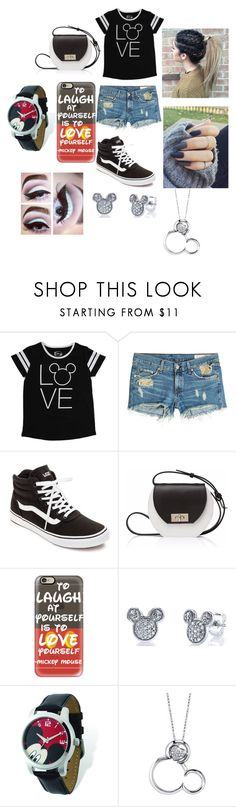 """""""Summer Loven#17"""" by taco-lambert ❤ liked on Polyvore featuring Disney, rag & bone, Vans, Joanna Maxham and Casetify"""