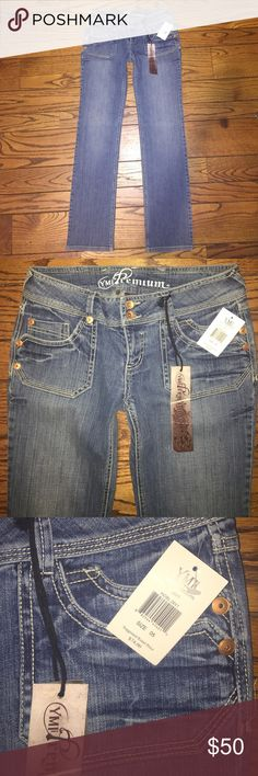 New NWT YMI Premium Jeans 5 Perfect jeans. New with tags. 99% cotton, 1% spandex. The inseam is 32.5 & the rise is 7 YMI Jeans Straight Leg