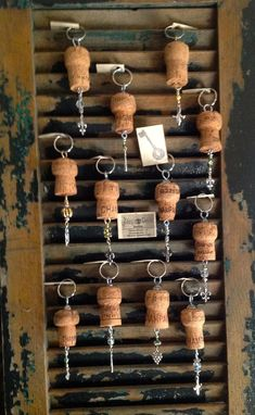 Items similar to recycled champagne cork ornament bottle bling key ring on etsy crafts made with cork stoppers Wine Craft, Wine Cork Crafts, Wine Bottle Crafts, Wine Cork Frame, Wine Cork Art, Champagne Cork Crafts, Champagne Corks, Champagne Gifts, Wine Cork Ornaments