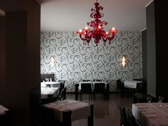 #Red Lamp by #seleneilluminazione #restaurant #red