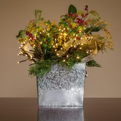 Christmas Flower Decoration with Starburst Lighted Branches