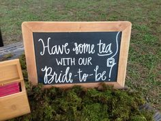 Bridal shower//tea party style shoot chalkboard by Lauren Heim Weddings.