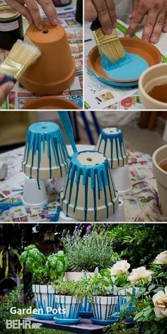 Decora o e Inven o Pintar vasinhos com uma id ia super f cil - DIY - Adorei Nature Crafts Backyard Ideas Backyard Designs Garden Crafts Garden Projects Garden Ideas Diy Crafts Garden Art Potted Herb Gardens # Diy Garden Projects, Garden Crafts, Diy Garden Decor, Diy Crafts, Garden Ideas, Backyard Ideas, Backyard Designs, Rock Crafts, Homemade Crafts