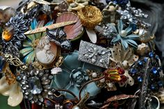 Custom Memory Brooch Bouquet  send me jewelry by LionsgateDesigns