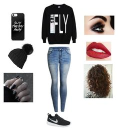 """""""Untitled #103"""" by xxxkilljoyxxx ❤ liked on Polyvore featuring Bambam, Black, Jouer and NIKE"""