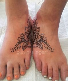 flower foot tattoo BillyInkslinger