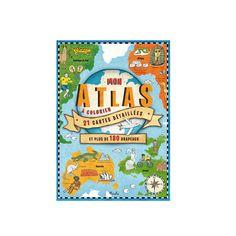Livre Mon atlas à colorier pour enfant de 6 ans à 10 ans - Oxybul éveil et jeux