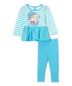 Look at this #zulilyfind! Blue Frozen 'Family' Skirted Tunic & Leggings - Toddler & Girls by Frozen #zulilyfinds