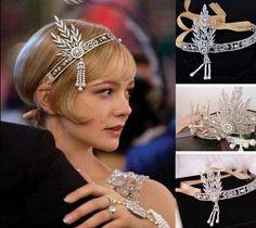 33ee0fabc339 1920s headpiece UK SELLER forehead band Great Gatsby Headpiece, Art Deco  Flapper Downton Abbey Headband, Great Gatsby headband