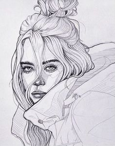 New Art Sketches Girl Drawing Sketches, Art Drawings Sketches Simple, Pencil Art Drawings, Beautiful Drawings, Cute Drawings, Art Anime, Celebrity Drawings, Art Sketchbook, Drawing People