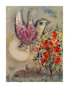 """Sketch for """"Night of Venice"""" by Marc Chagall"""