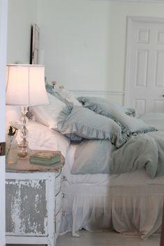 pale blue pillows