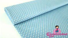 0,5mtr Chambre Blusen Jeans Stoff HELL Blau mit Sterne Q28