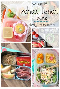 Week 18: School Lunch Box Ideas - FamilyFreshMeals.com