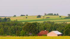 Widok z Kiełczewic w kierunku Ptasiej Góry