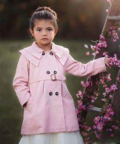 Look at this #zulilyfind! Pink Aster Coat - Toddler & Girls #zulilyfinds