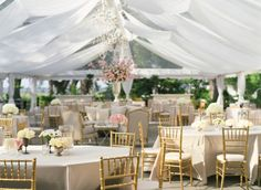 Clear Tent with Vintage Decor by Kristin Newman Designs