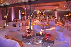 Revelry Event Designers / International Event Company Wedding at St. Regis / Floral Design by Mark's Garden and lighting by The Lighter Side